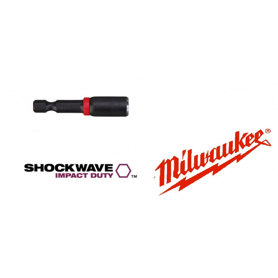 Douille aimantée M7 MILWAUKEE SHOCKWAVE