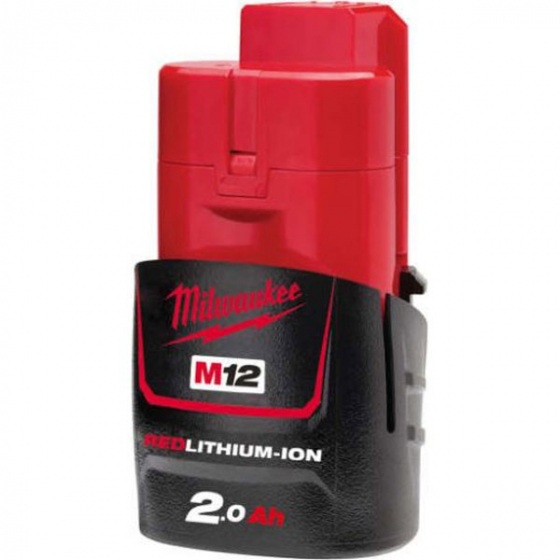 Batterie Milwaukee M12B2 18V 2.0Ah Red Lithium-Ion