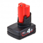 Batterie Milwaukee M12B4 12V 4.0Ah Red Lithium-Ion