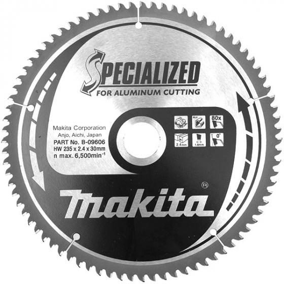 """Makita B-09606 Lame de scie circulaire """"Specialized"""" ø235mm 80Dts Pour l'Aluminium"""