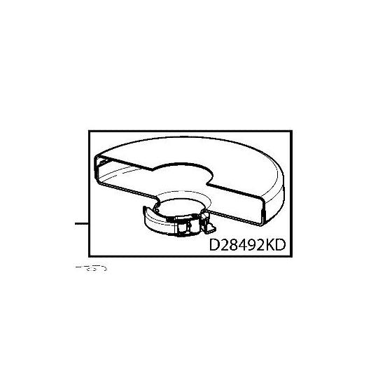 Dewalt N036839 Carter de Protection Meuleuse D28490, D28492