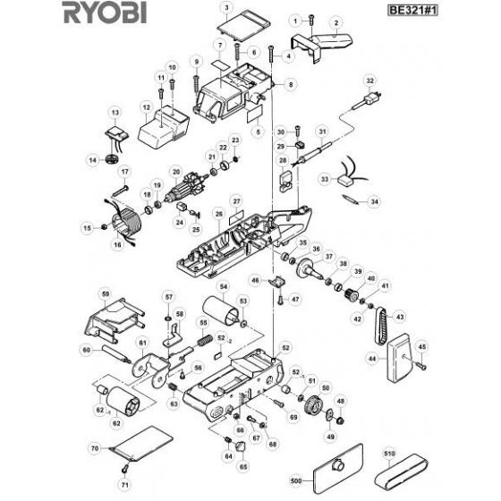 Ryobi Ponceuse BE321