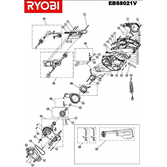 Ryobi Charbon 5131000260 EBS8021