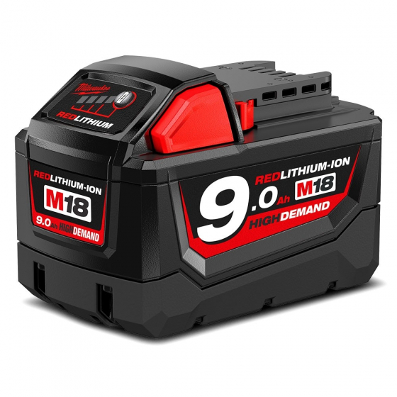 Milwaukee M18B9 Batterie 18V 9.0Ah Red Lithium-Ion (4932451245)