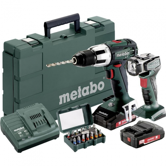 Metabo SB 18 LT SET Perceuse, Visseuse à Percussion 18V 2x2.0Ah (602103610)