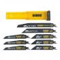 Dewalt DT2443 Coffret de 8 lames pour scies sabres