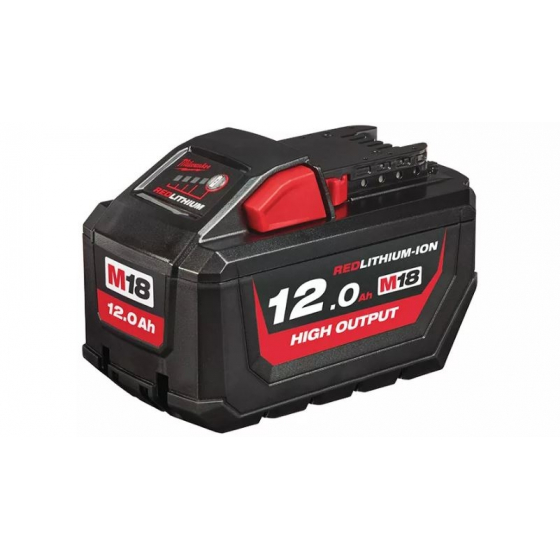 Milwaukee M18HB12 High Output Batterie 18V 12.0Ah Red Lithium-Ion (4932464260)
