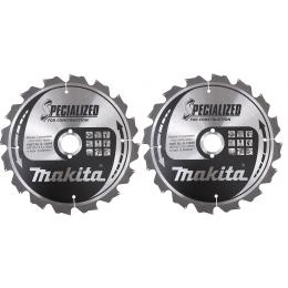 """Makita B-49258 Lot de 2 Lames (B-13699) de scie circulaire """"Specialized"""" ø235mm 16Dts Pour Bois"""