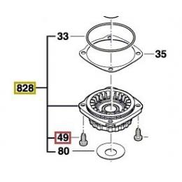 Bosch 1619P02872 Flasque de Palier GWS7-100, GWS7-125