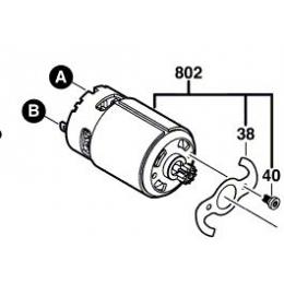 Bosch 2609199253 Moteur à Courant Continu 14.4V  GSR14.4-2LI