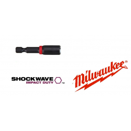 Douille aimantée M4 MILWAUKEE SHOCKWAVE