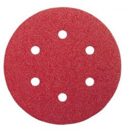 5 disques abrasifs 150mm 6 trous