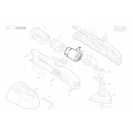 Bosch 2609004831 Moteur à Courant Continu 10.8V PMF10.8LI