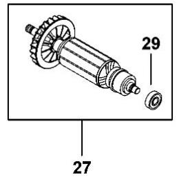 B&D 377489-49 Induit de Meuleuse FME821, FME822, KG750, KG751, KG752