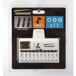 Diager 610D Coffret de 11 Embouts de Vissage Impact