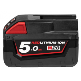 Milwaukee M28B5 Batterie 28V 5.0Ah Red Lithium-Ion (4932430484)