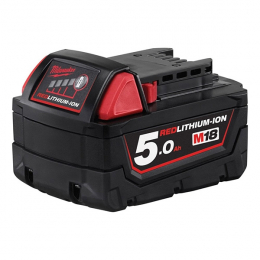 Milwaukee M18B5 Batterie 18V 5.0Ah Red Lithium-Ion