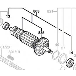 Bosch 1604010A90 Induit Meuleuse 230V