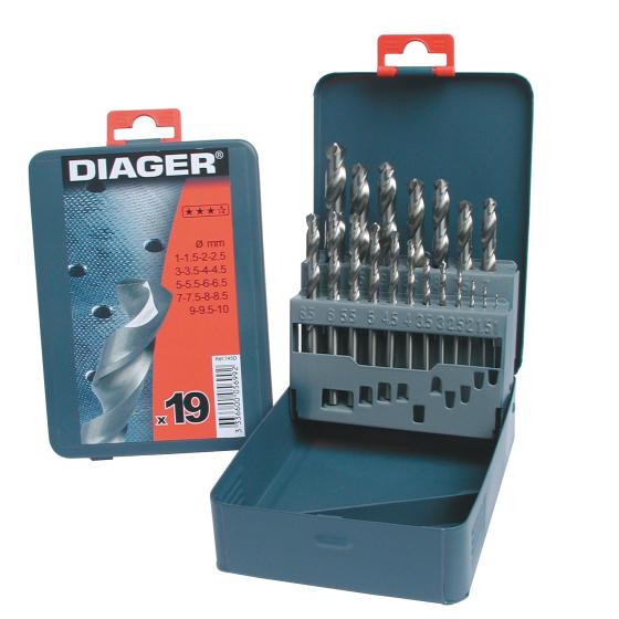 Coffret de 18 forets métal DIAGER 745D