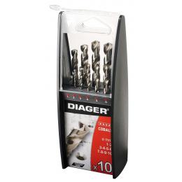 Coffret de 10 forets métal cobalt 5% DIAGER 720C