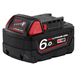 Milwaukee M18B6 Batterie 18V 6.0Ah Red Lithium-Ion (4932451244)