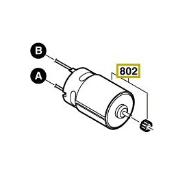 Bosch 2609199122 Moteur 18V à Courant Continu PSR18