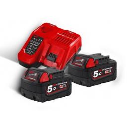 Milwaukee Pack M18NRJ-502 Avec 2 Batteries 18V 5.0Ah et Chargeur Rapide M12-18FC (4933459217)