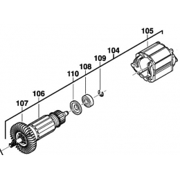Milwaukee 201238002 Induit + Indicteur 230V Perforateur PFH26, PH26, PH26X