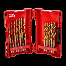Milwaukee Coffret 19 forets métal HSS-G Red Shockwave pour visseuse (48894760)