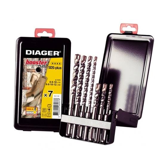 Coffret métal 7 forets SDS-plus DIAGER 113D BOOSTER PLUS