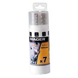 Coffret 7 forets béton SDS-plus DIAGER