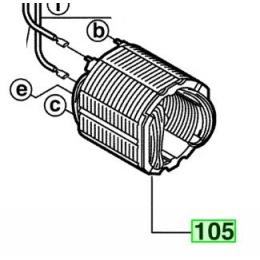 AEG 4931426182 Inducteur Perceuse SB2E680R et SB2E700R