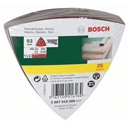 Bosch Pack de 25 Abrasifs Delta 93x93mm (2607019500)